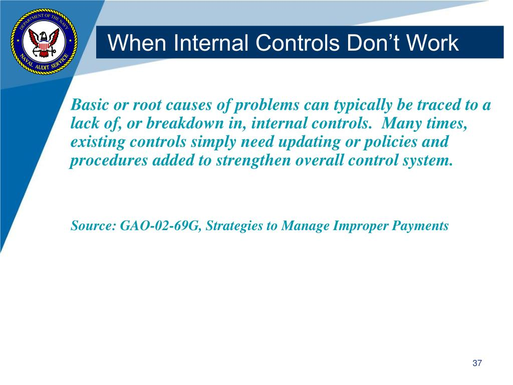 When Internal Controls Don't Work