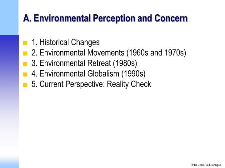 A environmental perception and concern