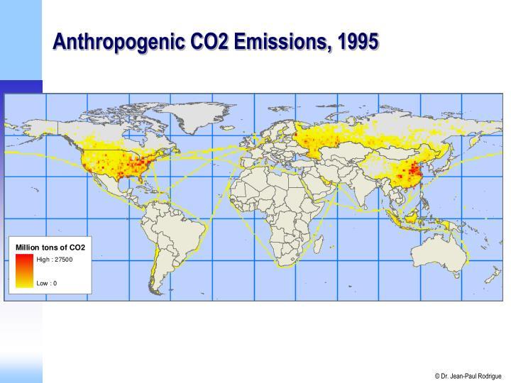 Anthropogenic CO2 Emissions, 1995