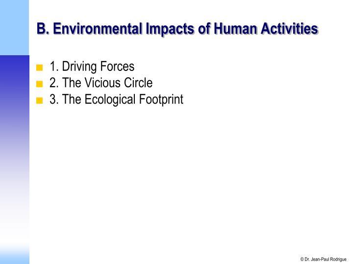 B. Environmental Impacts of Human Activities