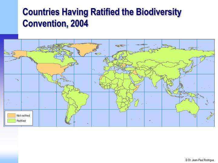 Countries Having Ratified the Biodiversity Convention, 2004