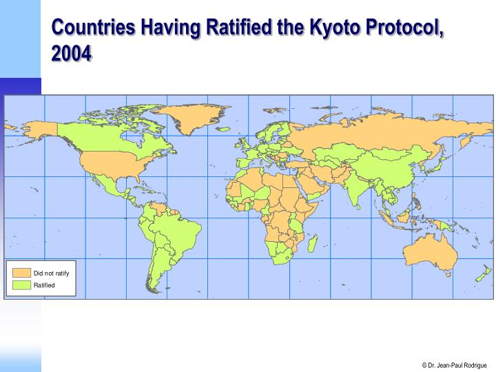 Countries Having Ratified the Kyoto Protocol, 2004