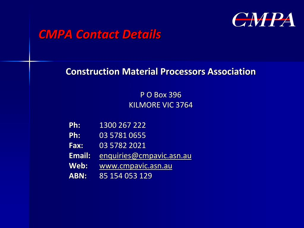CMPA Contact Details