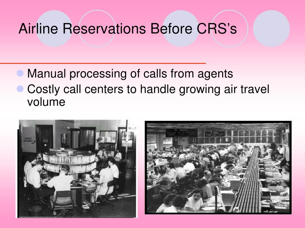 Airline Reservations Before CRS's