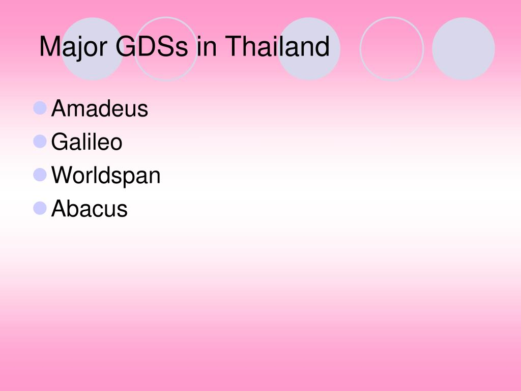 Major GDSs in Thailand