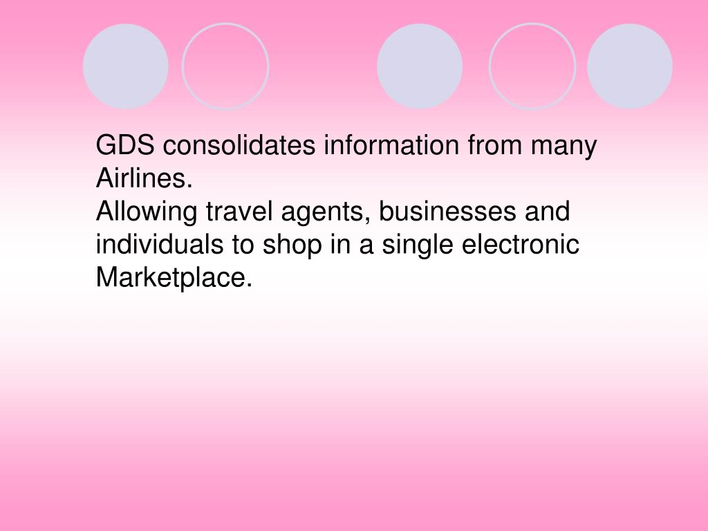 GDS consolidates information from many
