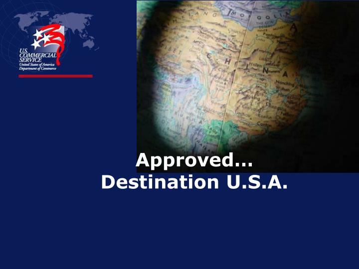Approved destination u s a