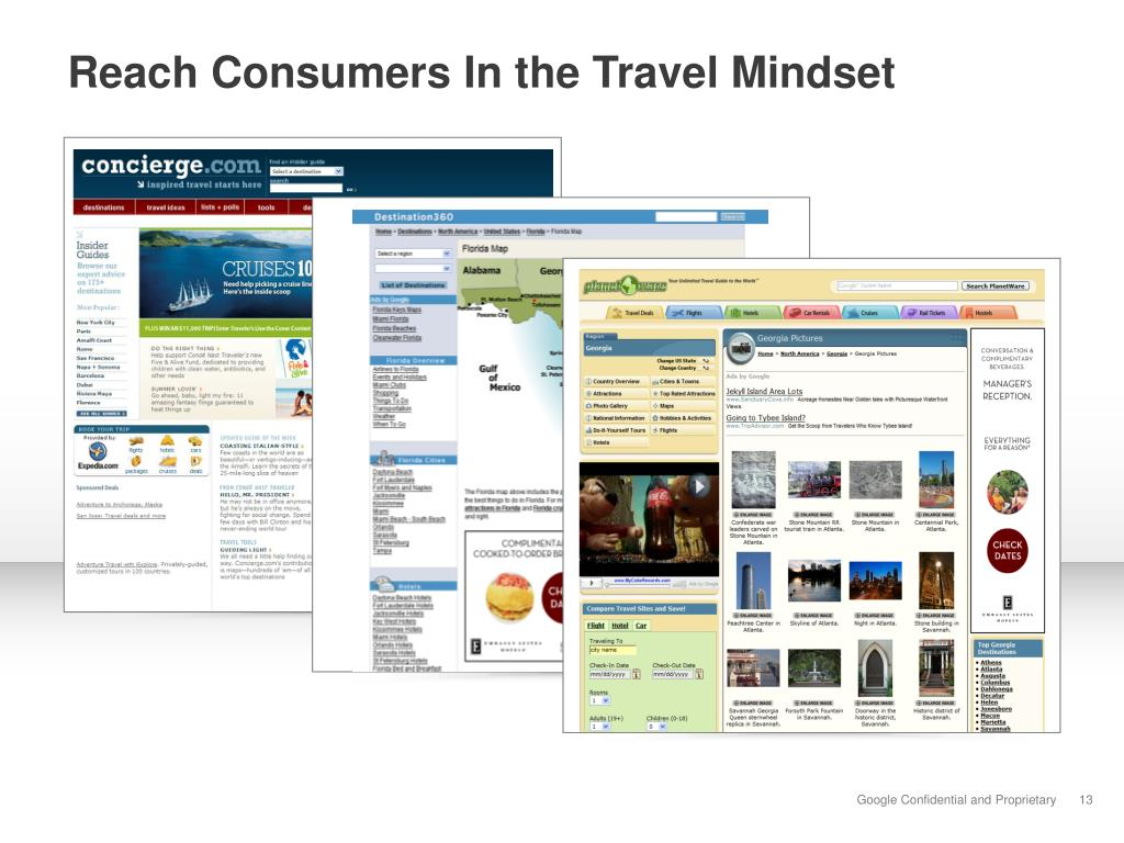 Reach Consumers In the Travel Mindset