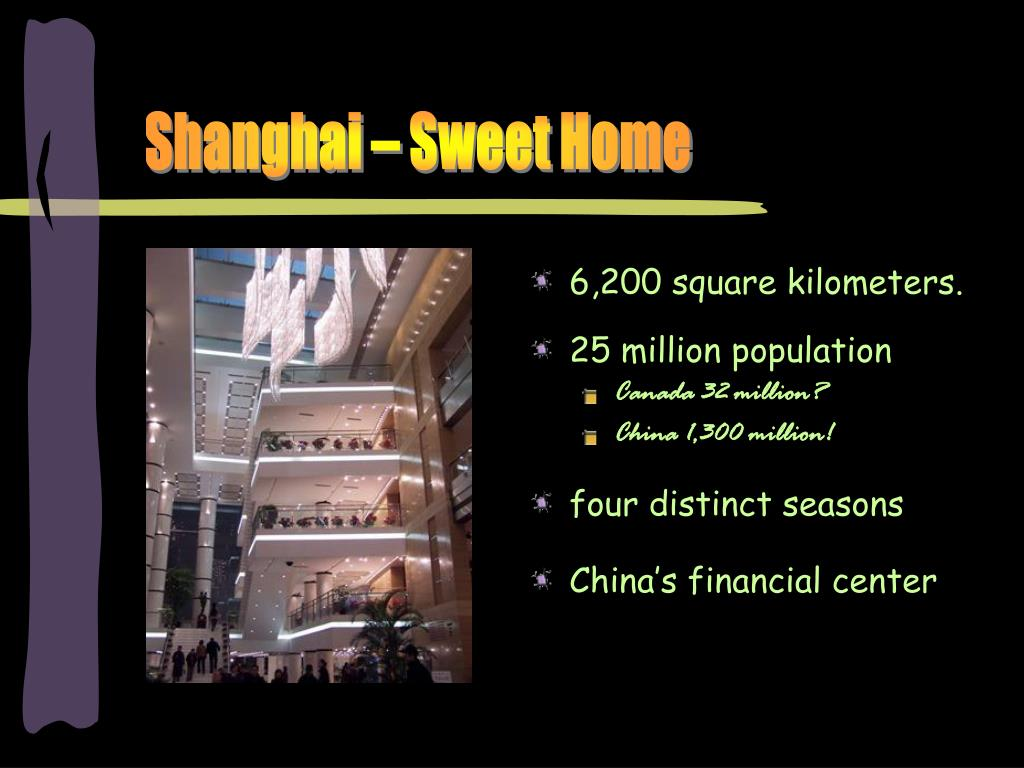 Shanghai – Sweet Home