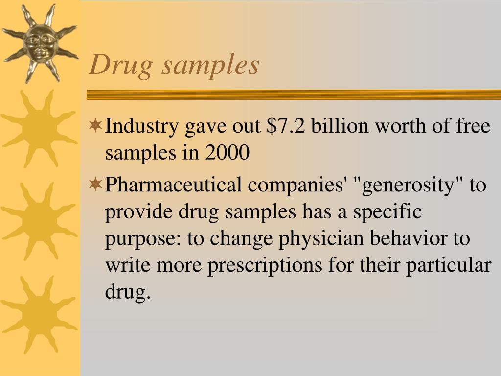 Drug samples
