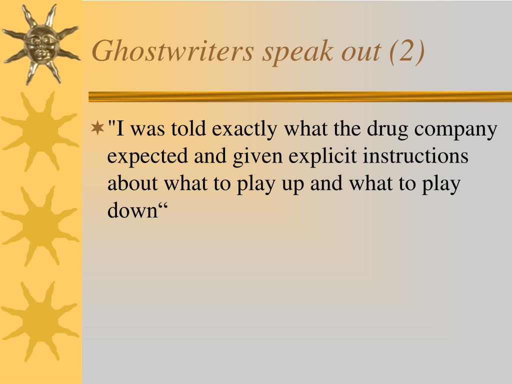 Ghostwriters speak out (2)