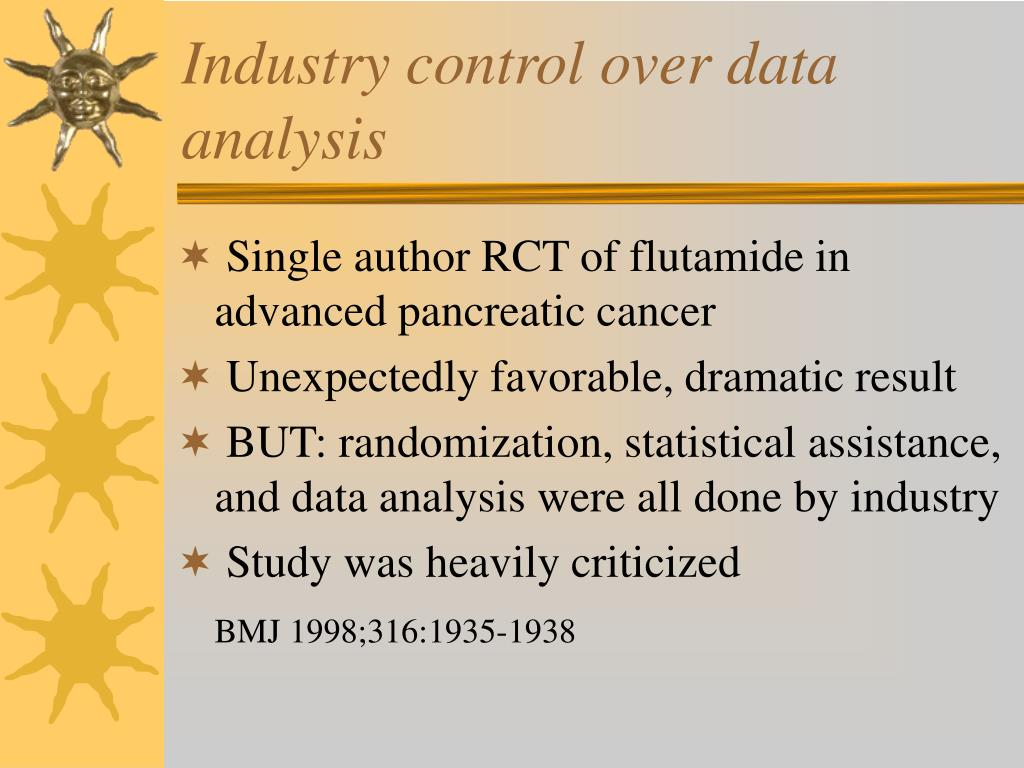 Industry control over data analysis