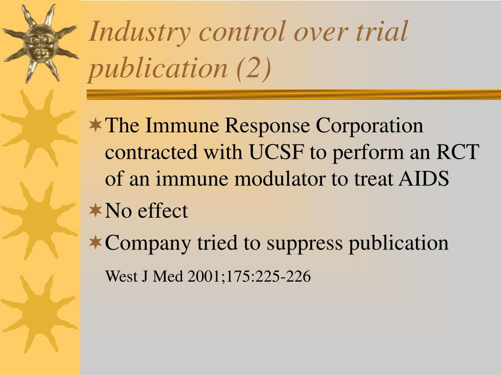 Industry control over trial publication (2)
