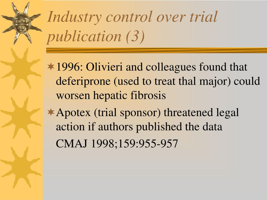 Industry control over trial publication (3)
