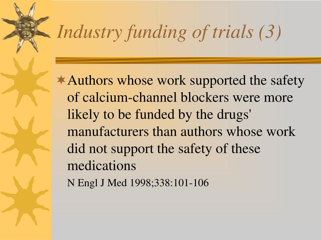 Industry funding of trials (3)