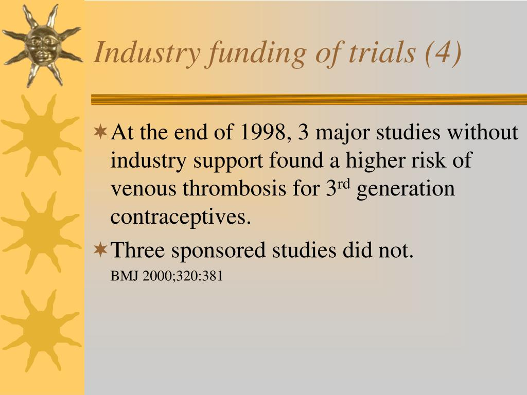 Industry funding of trials (4)