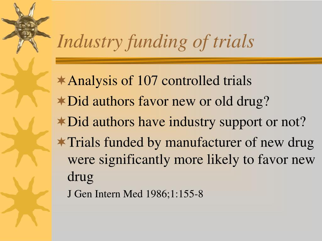 Industry funding of trials