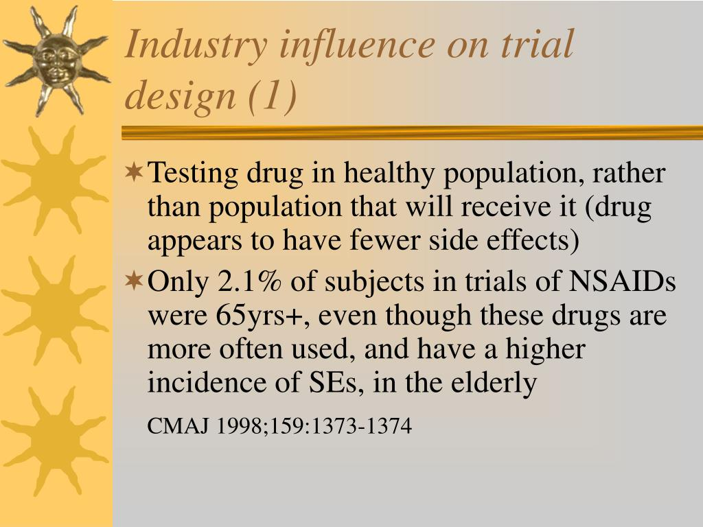 Industry influence on trial design (1)