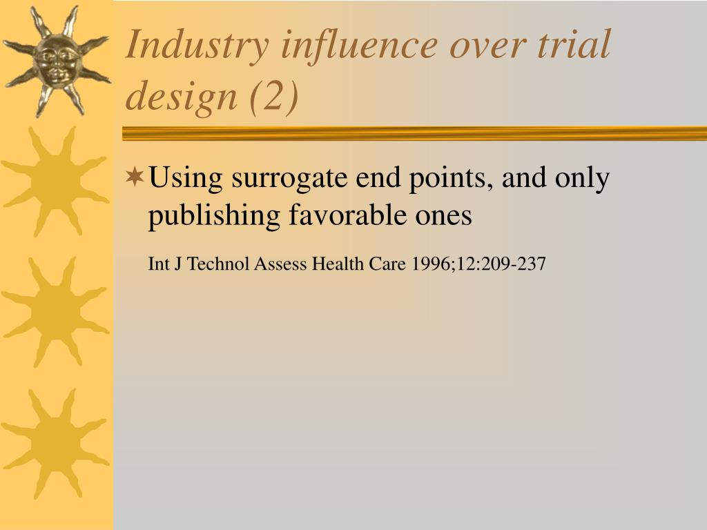 Industry influence over trial design (2)