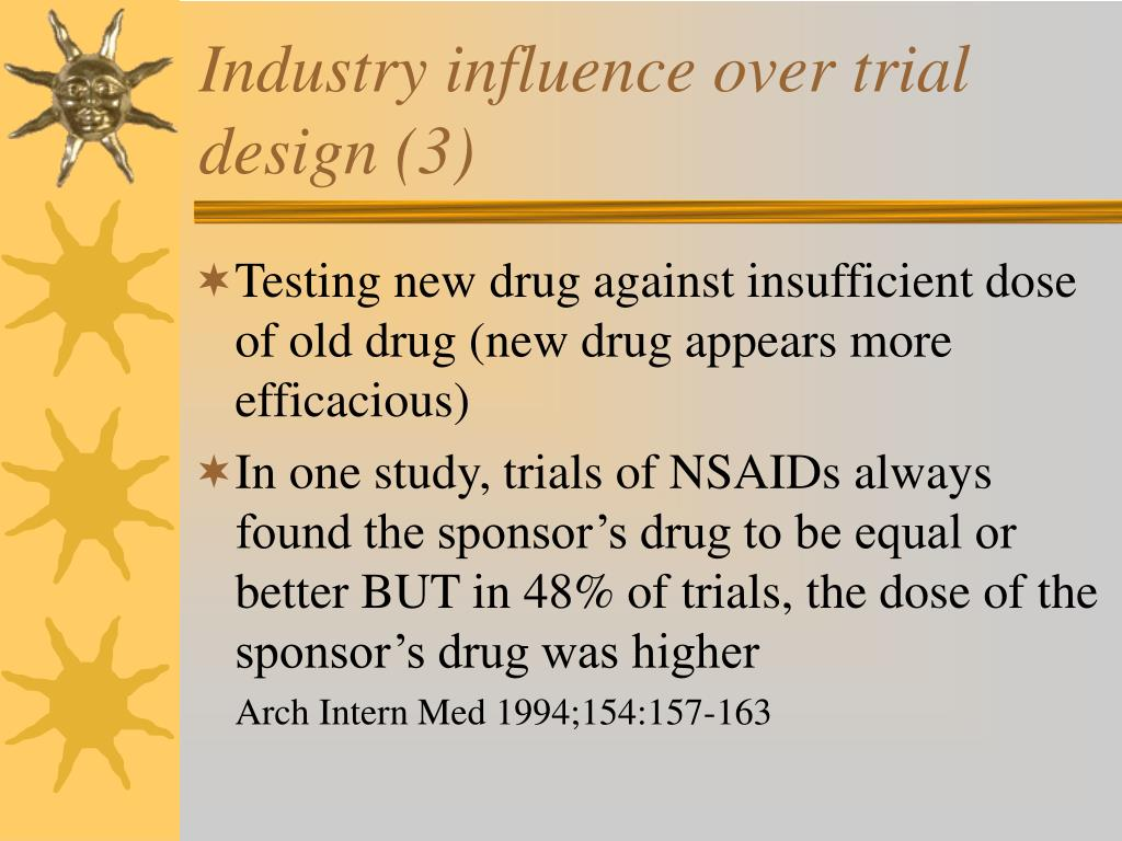 Industry influence over trial design (3)