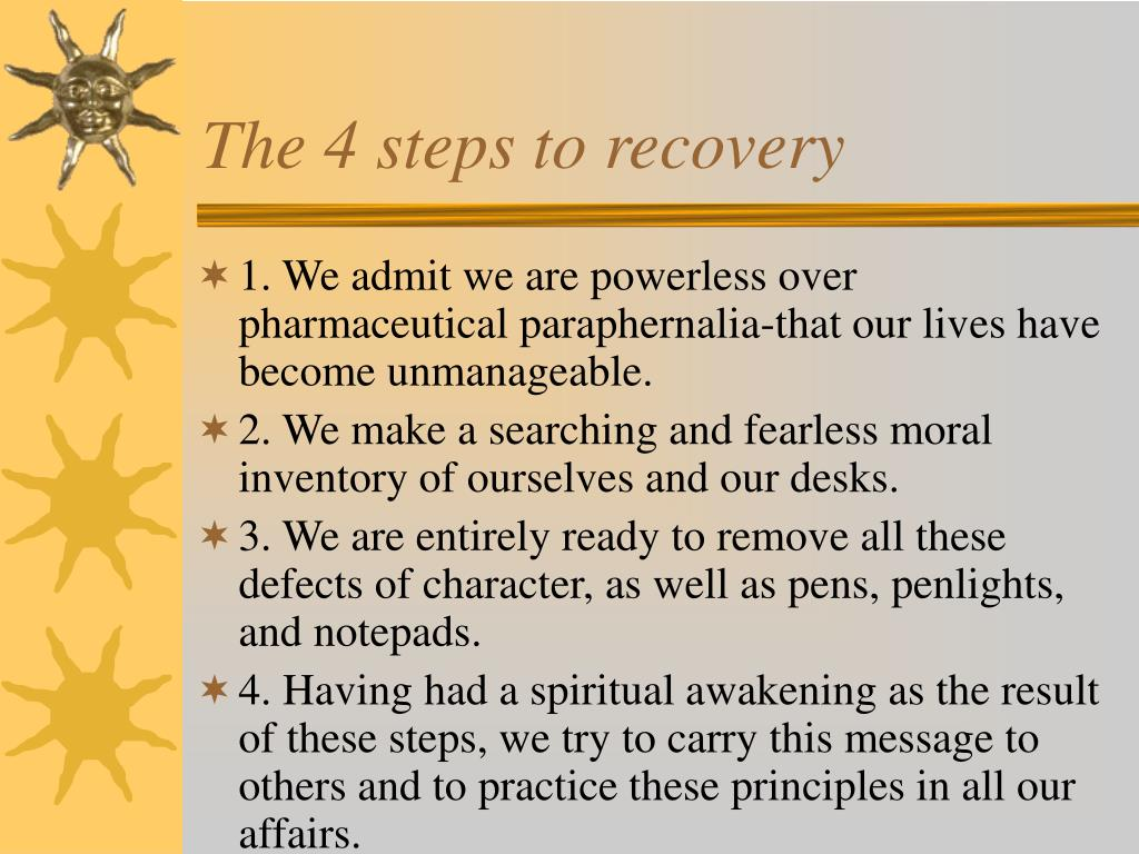 The 4 steps to recovery