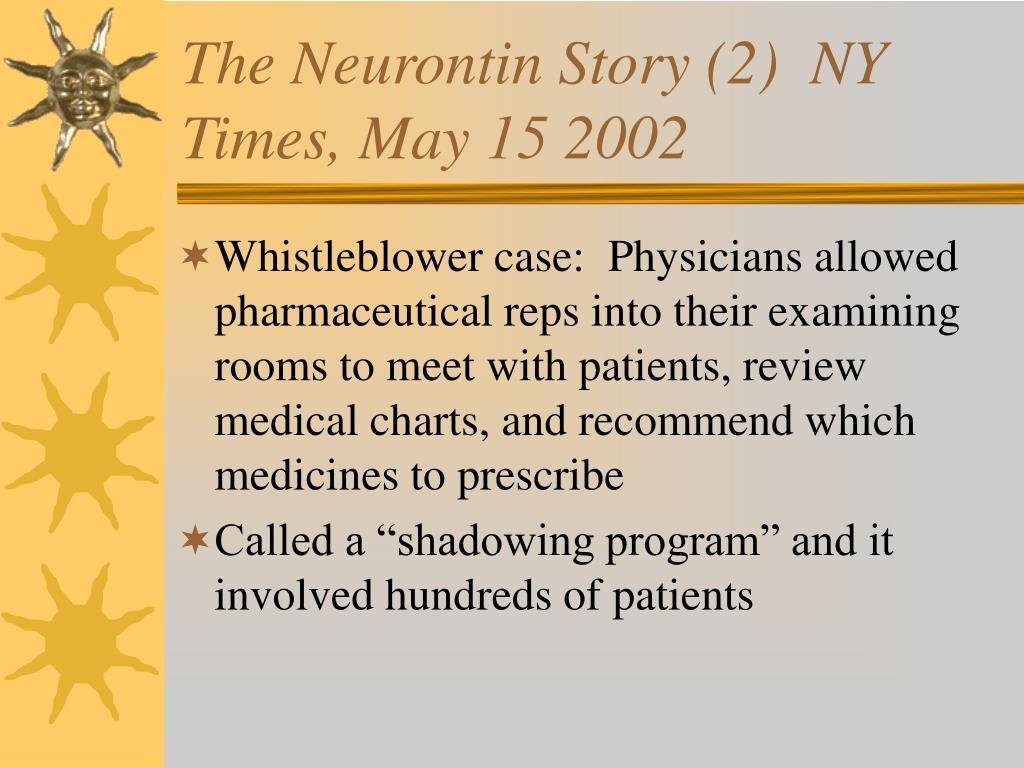 The Neurontin Story (2)  NY Times, May 15 2002