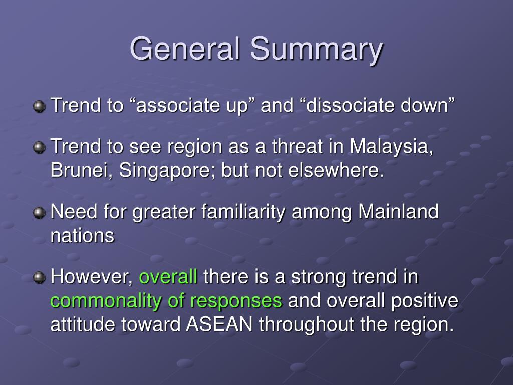 General Summary