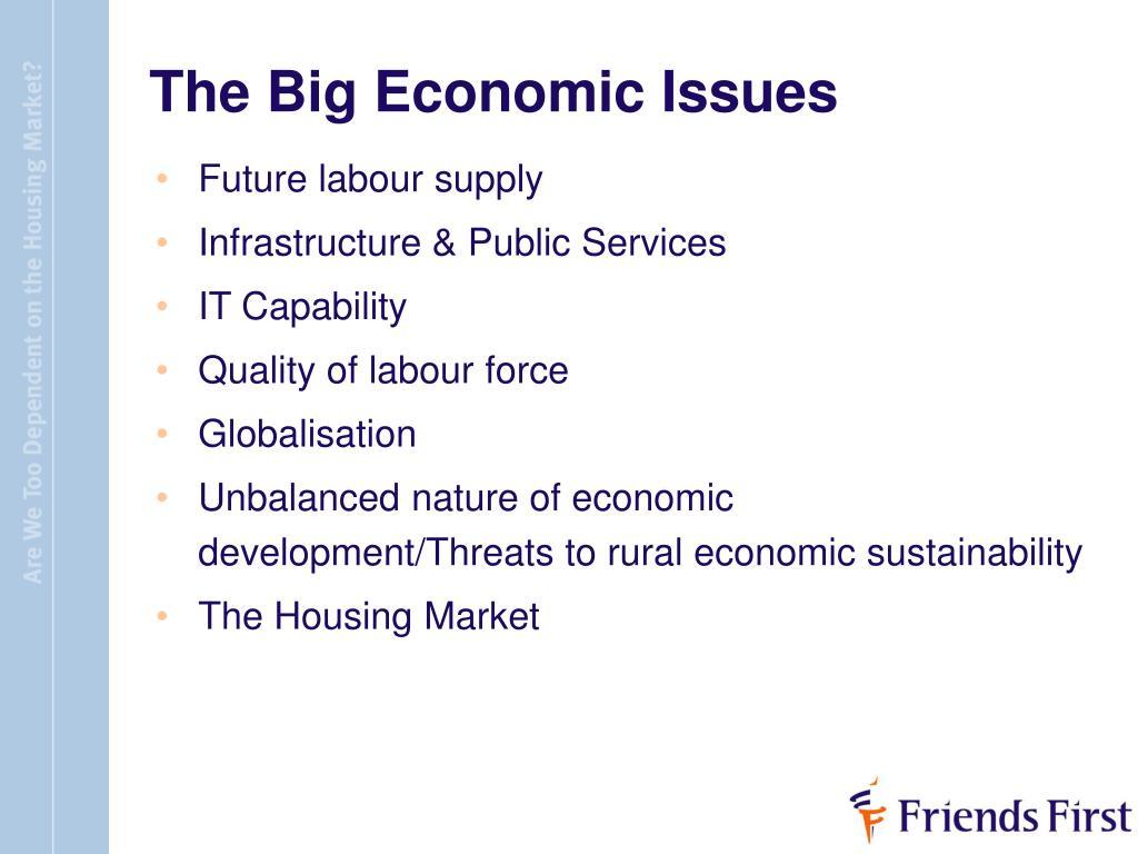 The Big Economic Issues
