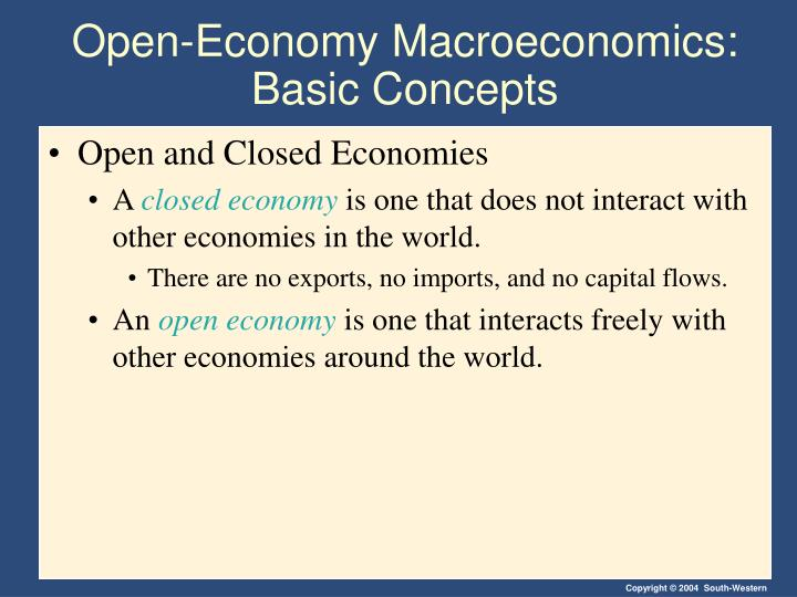 Open economy macroeconomics basic concepts