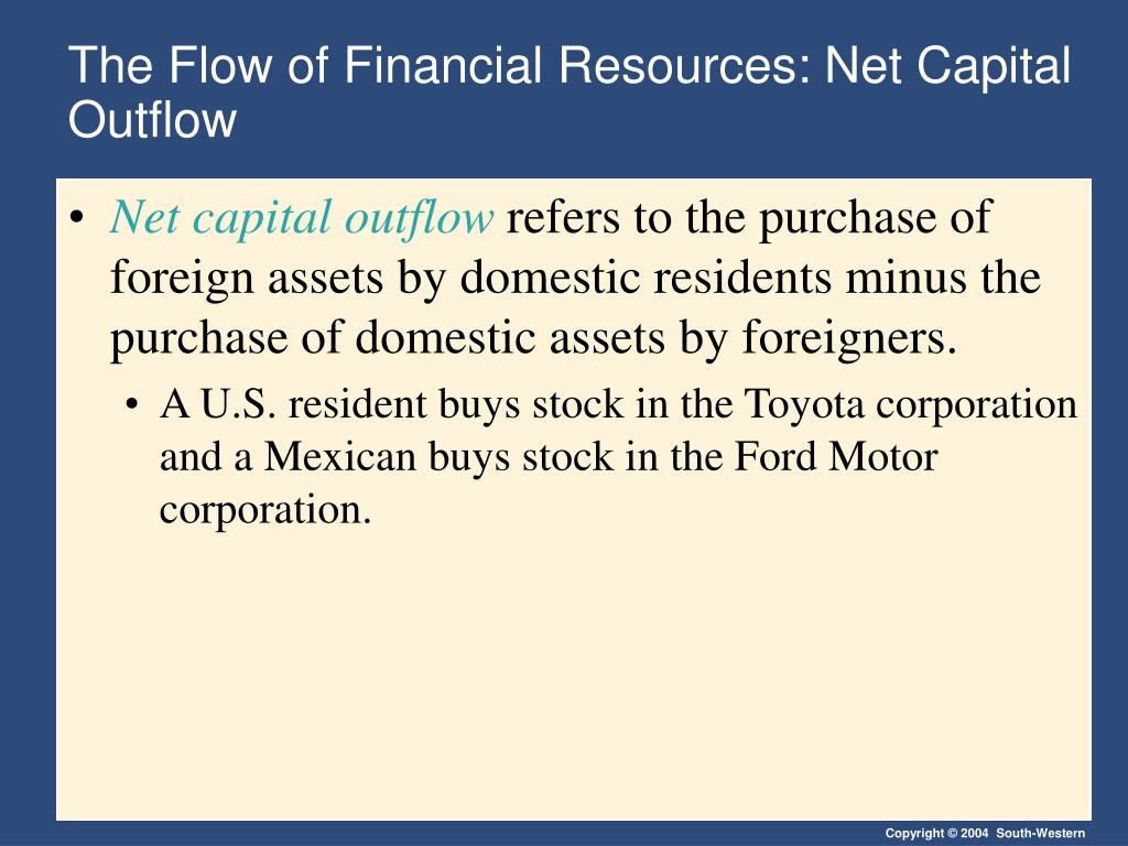 The Flow of Financial Resources: Net Capital Outflow