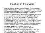 east as in east asia