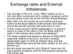 exchange rates and external imbalances