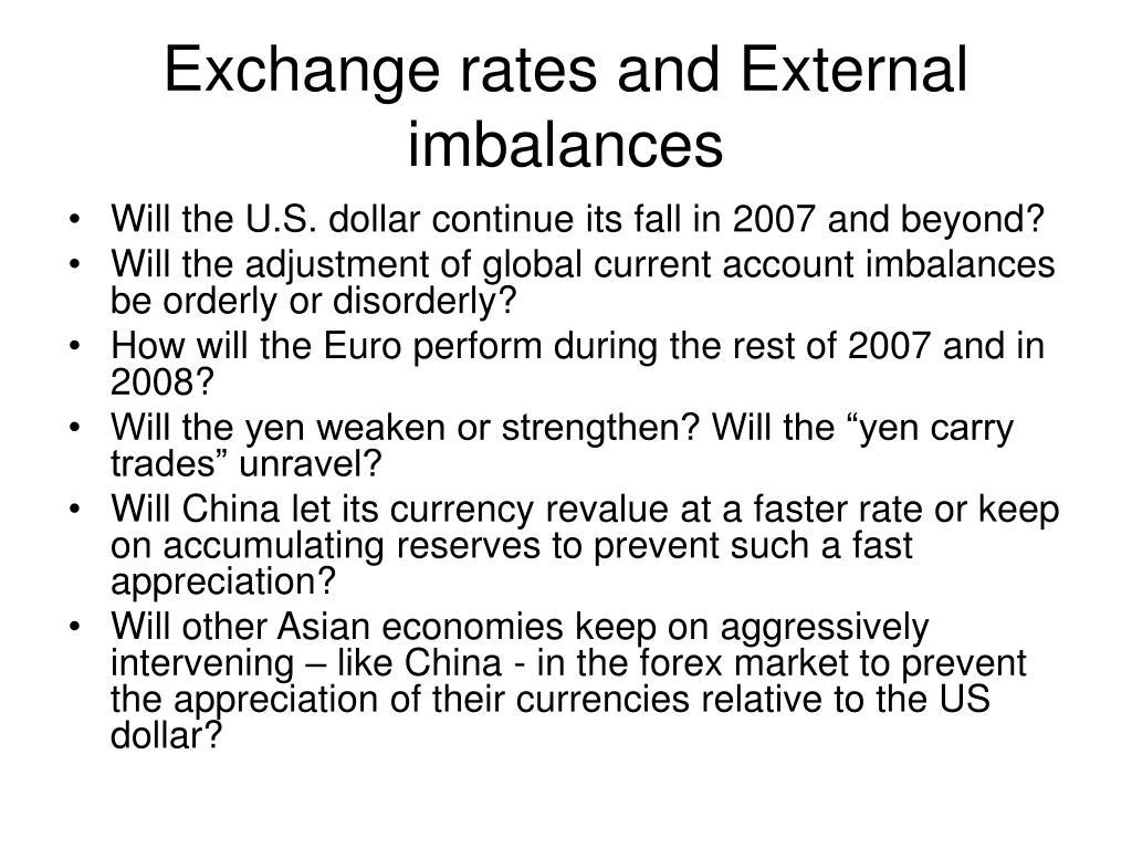 Exchange rates and External imbalances