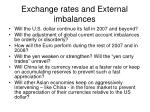 exchange rates and external imbalances7