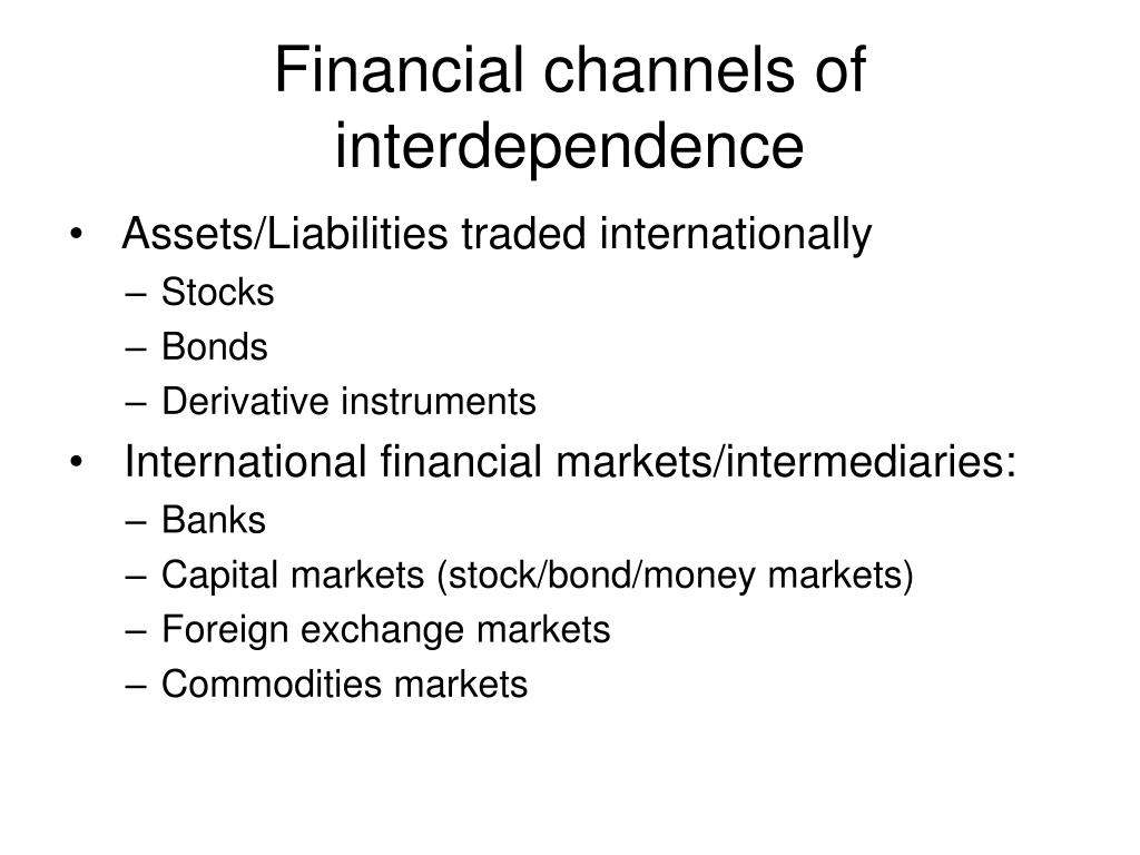 Financial channels of interdependence