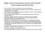 major macro and financial events of the last 20 years advanced economies37