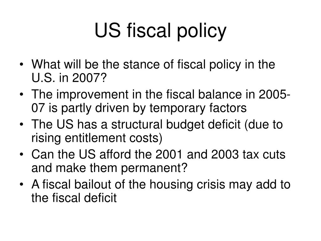 US fiscal policy