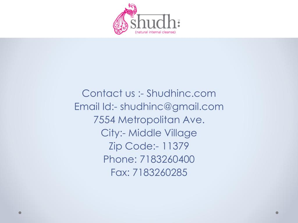 Contact us :- Shudhinc.com