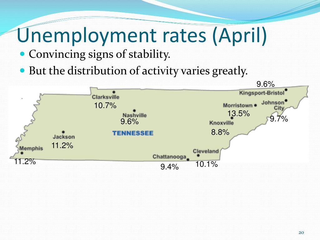 Unemployment rates (April)