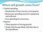 where will growth come from40