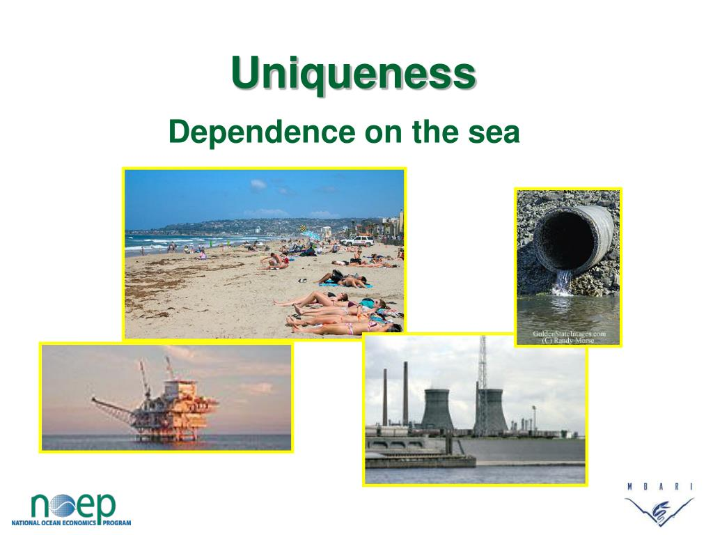 Dependence on the sea