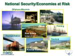 national security economies at risk