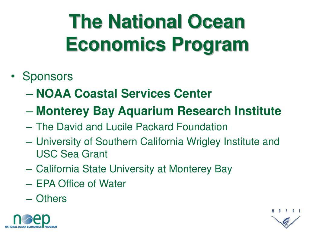 The National Ocean Economics Program