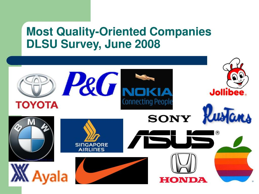 Most Quality-Oriented Companies