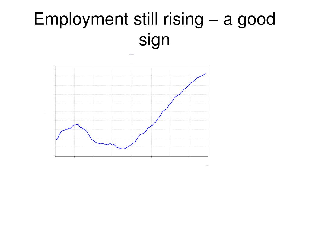 Employment still rising – a good sign