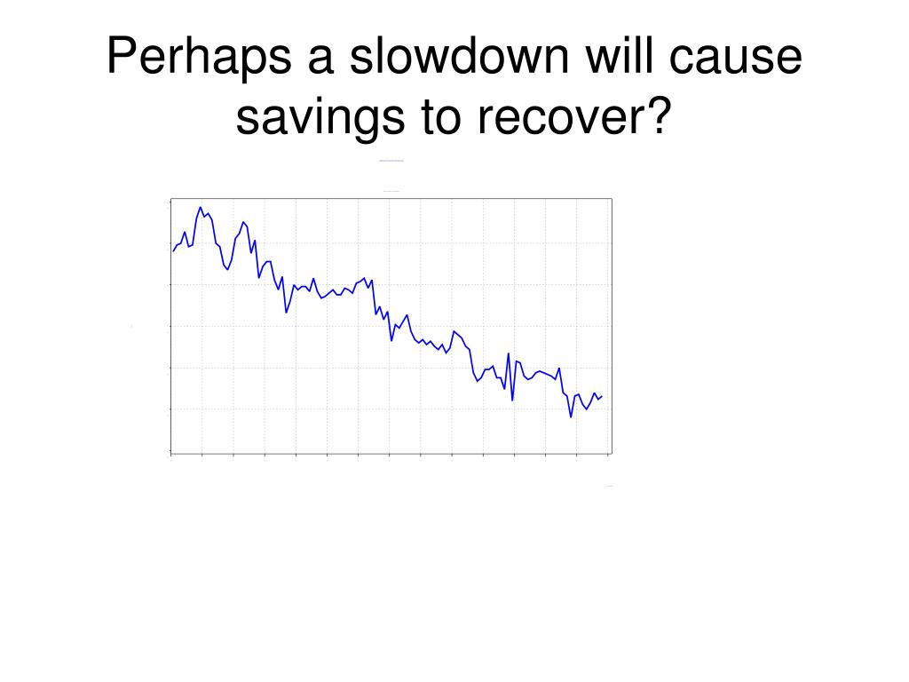 Perhaps a slowdown will cause savings to recover?