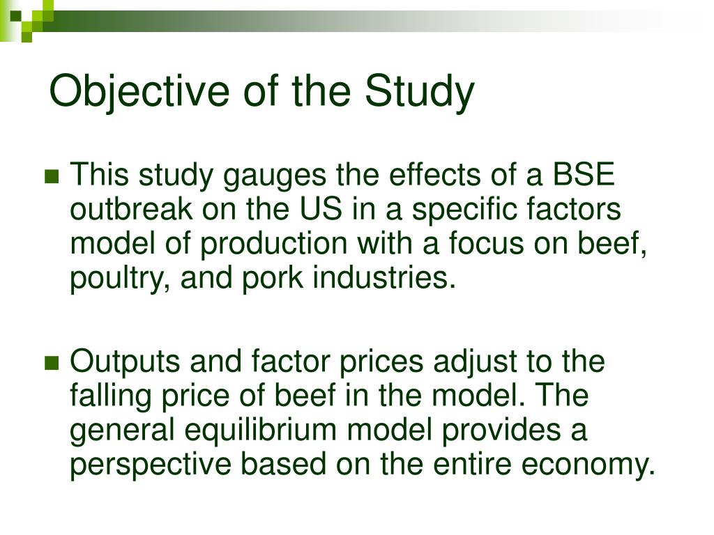 Objective of the Study