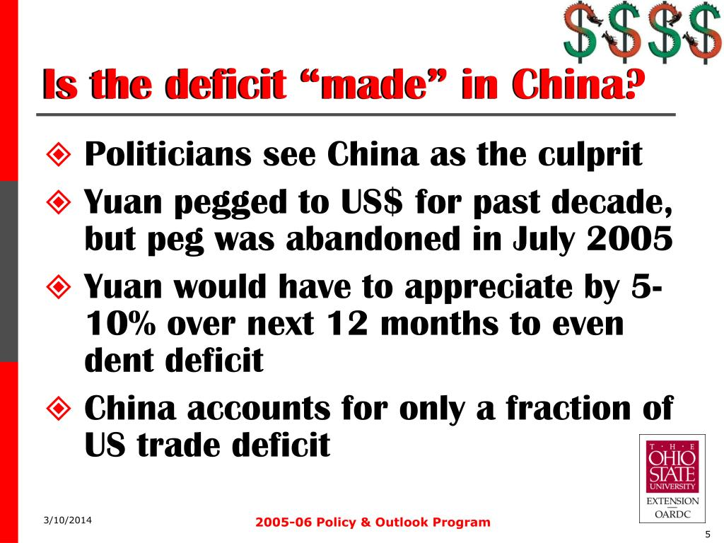 "Is the deficit ""made"" in China?"