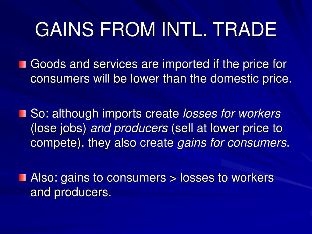 GAINS FROM INTL. TRADE