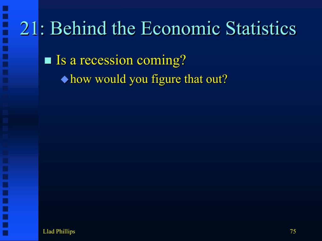 21: Behind the Economic Statistics
